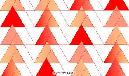 Diseño de fondo de triángulos rojos