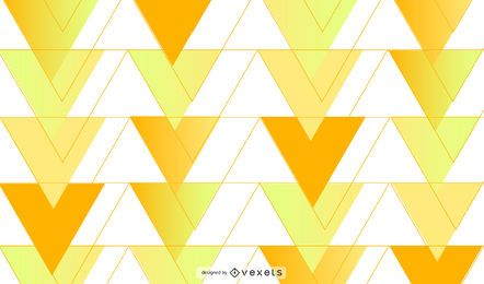 Design de fundo amarelo triângulos