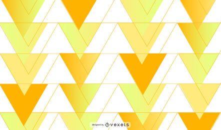 Diseño de fondo de triángulos amarillos