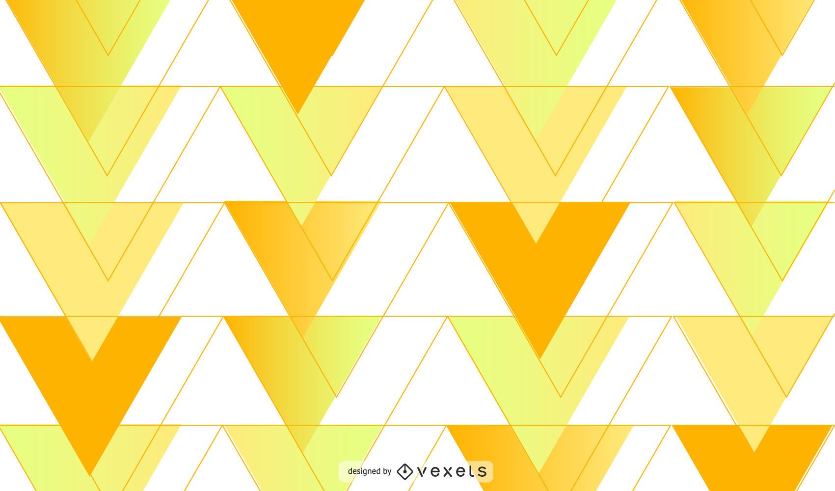 Yellow triangles background design