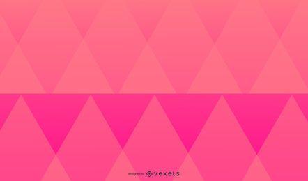 Diseño de fondo de triángulos rosa