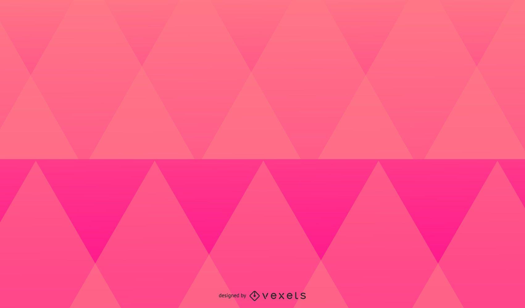 Pink triangles background design