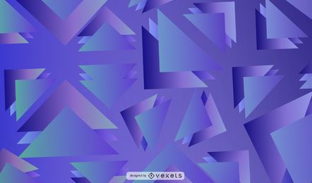 Design de fundo azul triângulos