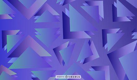 Diseño de fondo de triángulos azules