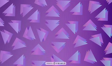 Design de fundo roxo triângulos
