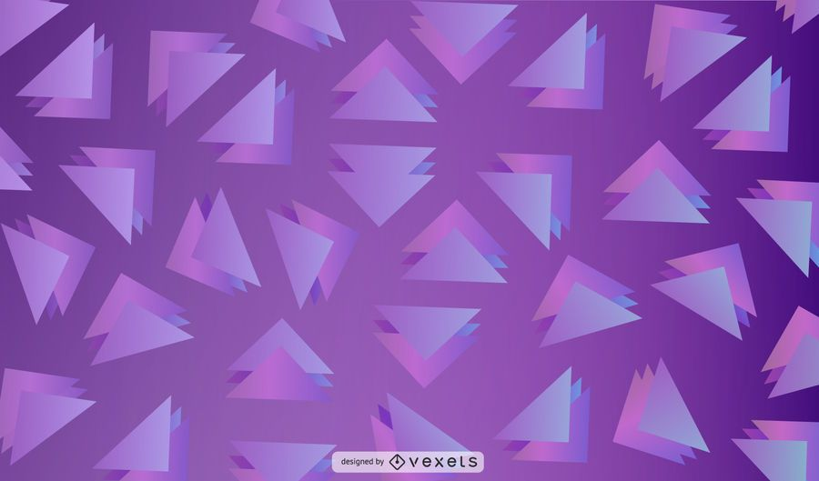 Purple triangles background design