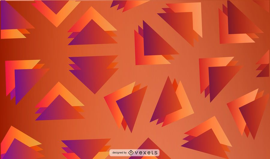 Gradient triangles abstract background