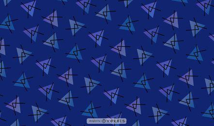 Triângulo abstrato azul de fundo