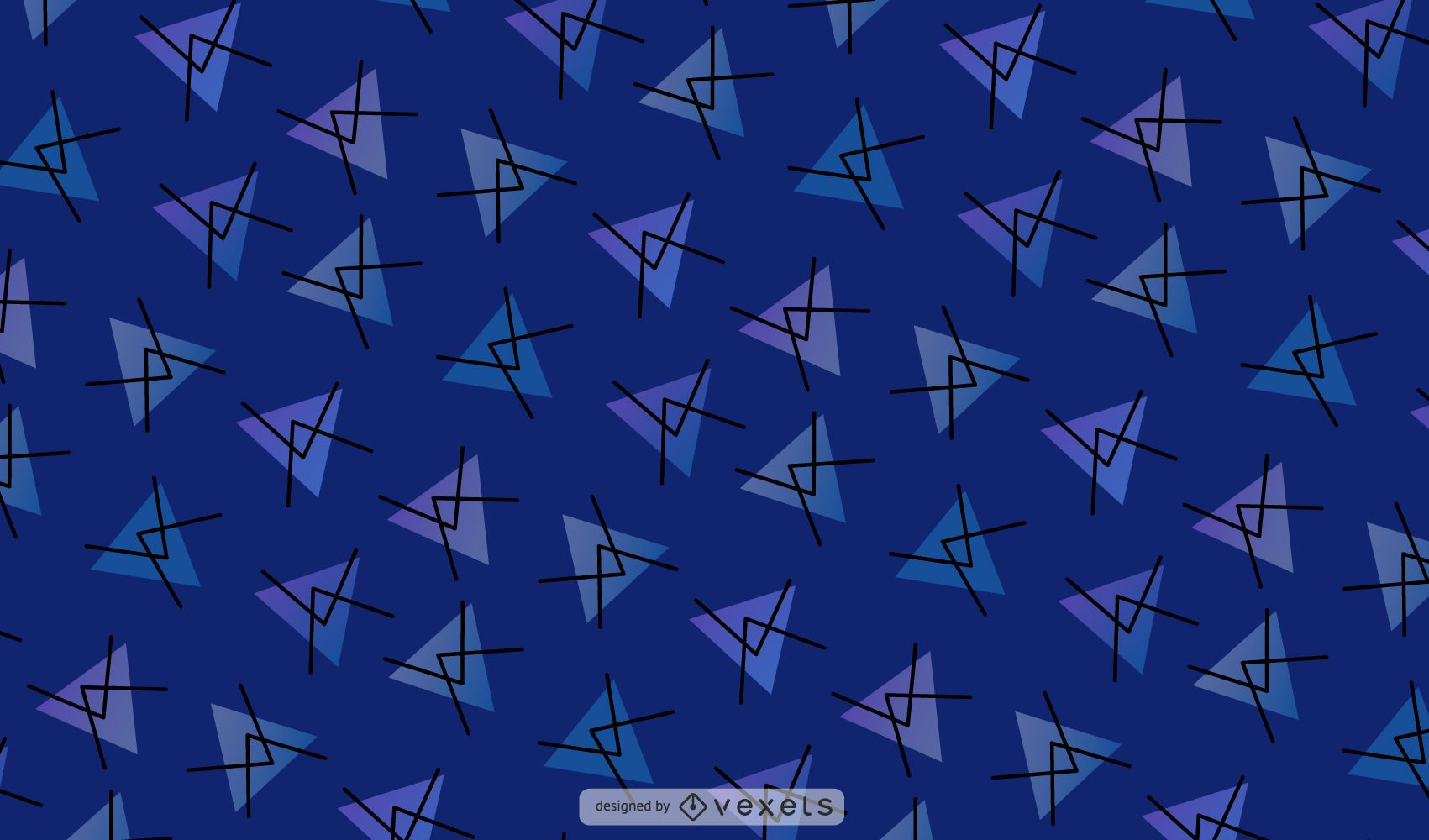 Abstract Triangle Blue Pattern Background
