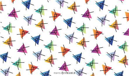 Fundo de padrão de triângulo colorido