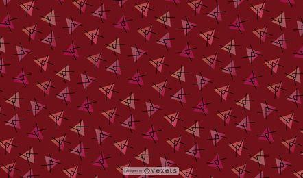Fondo de triángulo abstracto rojo