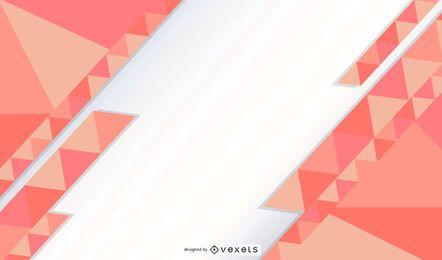Design de papel de parede de triângulos abstratos