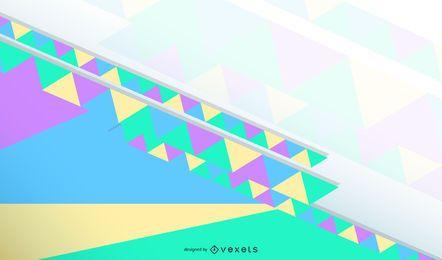 Design de papel de parede abstrato colorido triângulo