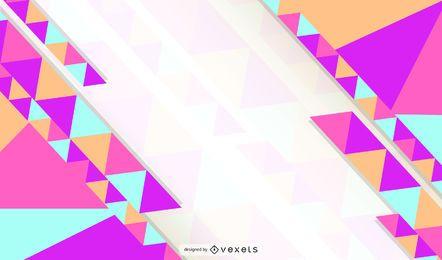 Papel de Parede Triângulo Abstrato Multicolor