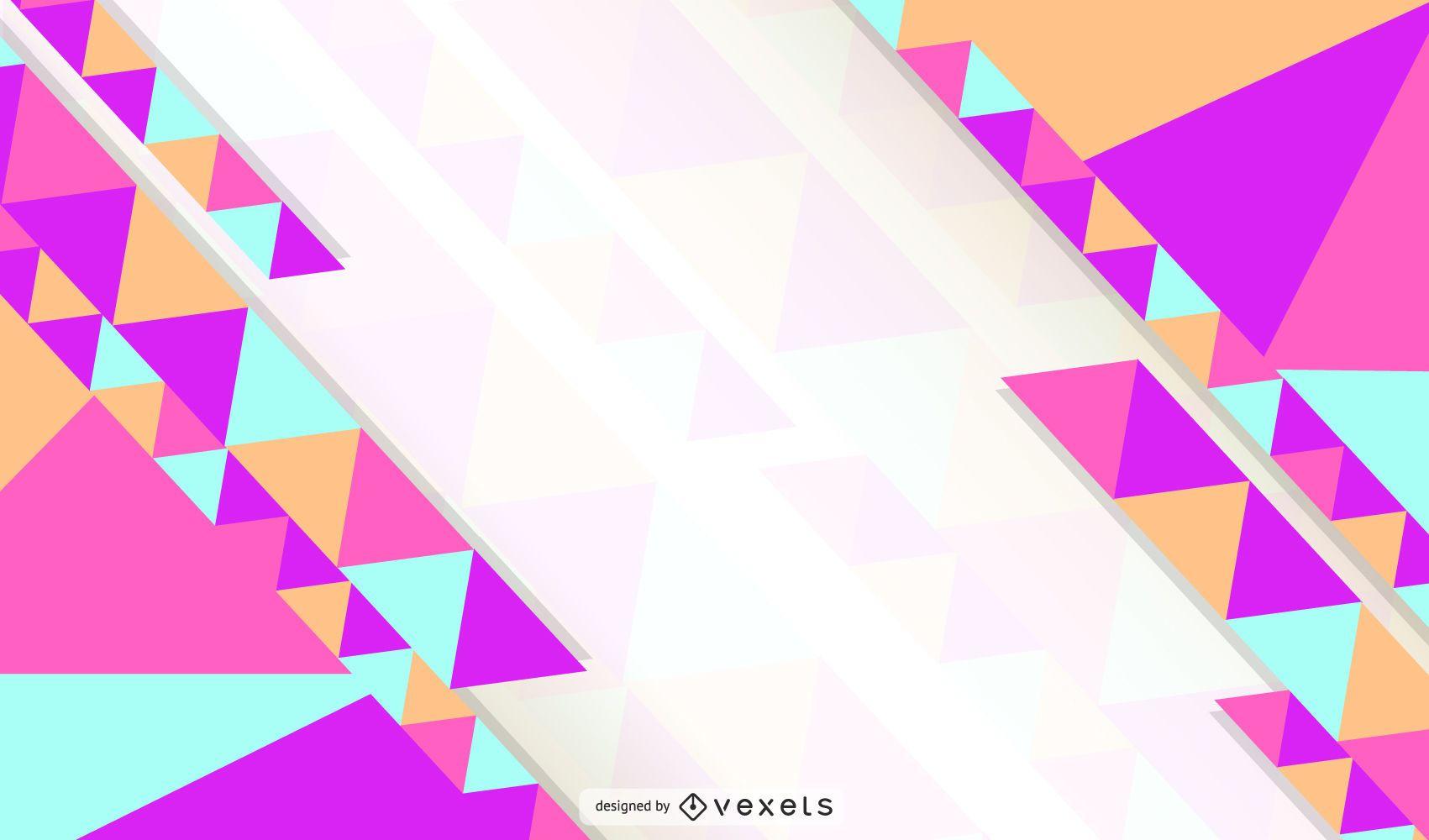 Multicolor Abstract Triangle Wallpaper