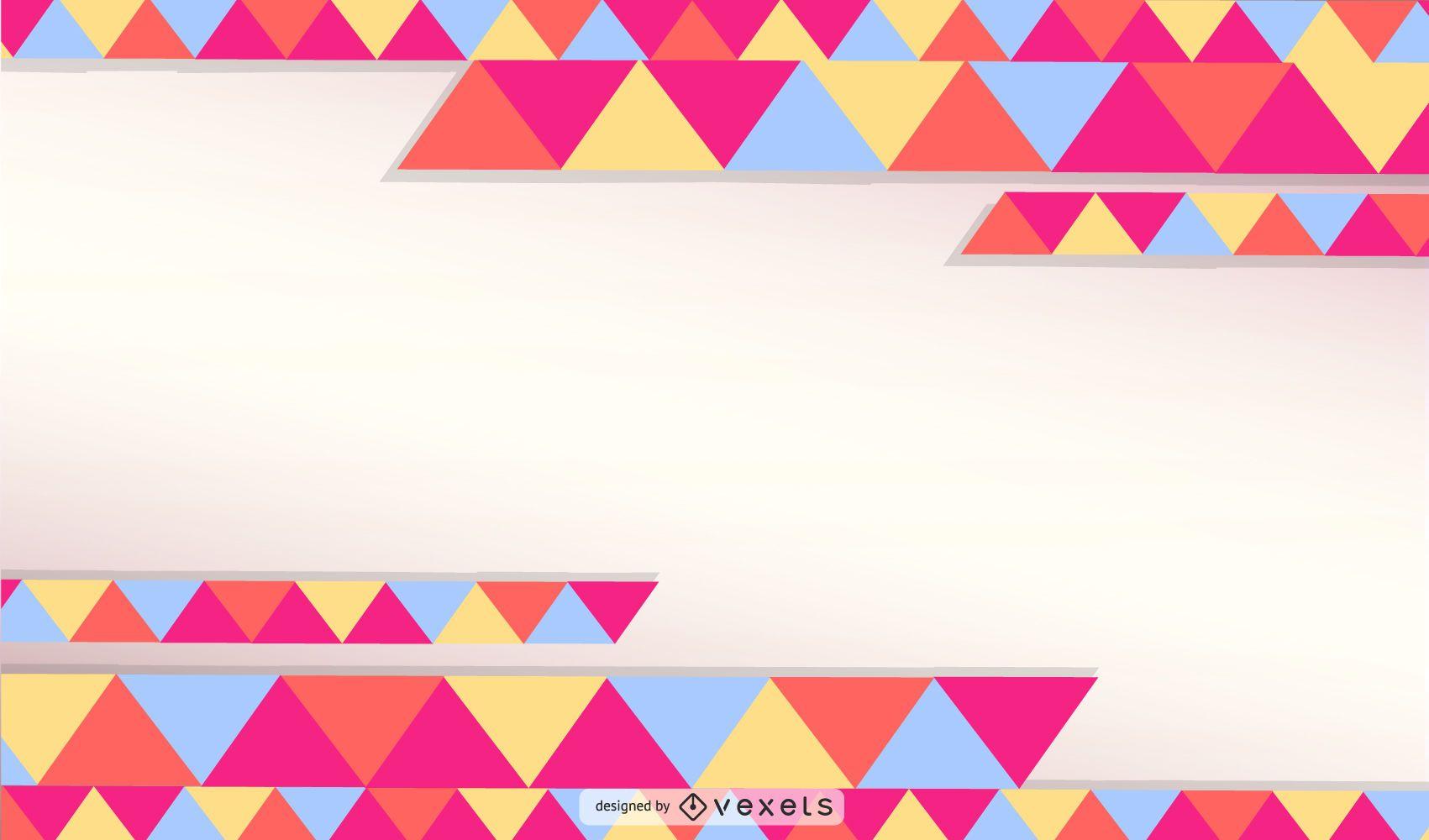 Fondo de diseño de triángulo abstracto