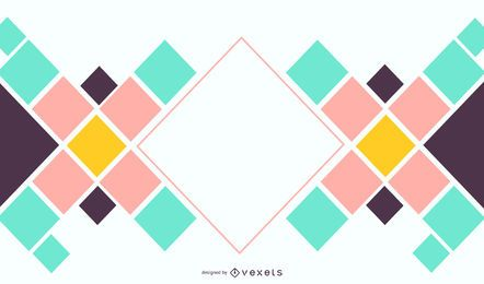 Abstract Square Background Design