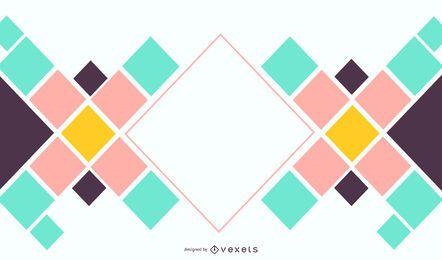 Diseño de fondo cuadrado abstracto