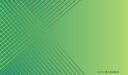 Diseño de fondo de líneas de degradado verde
