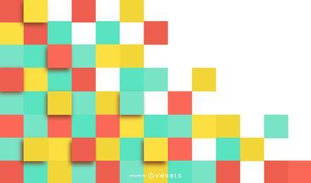 Diseño de fondo de azulejos cuadrados coloridos