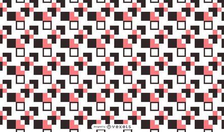 Fondo de patrón cuadrado abstracto