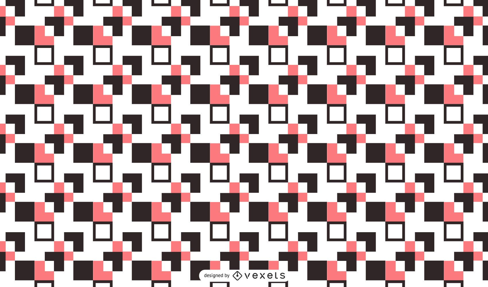 Abstract Square Pattern Background