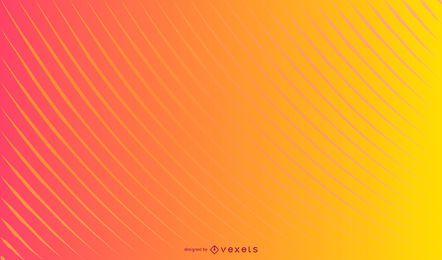 Design de fundo gradiente de linhas curvas