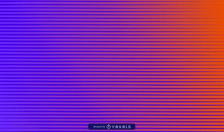 Blue to orange striped background