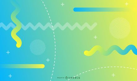 Fondo geométrico amarillo y azul