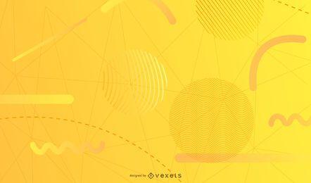 Fundo de formas geométricas amarelas