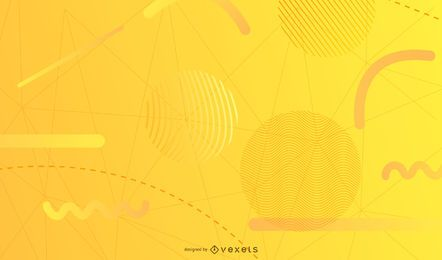 Yellow geometric shapes background
