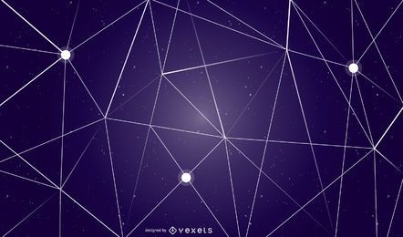 Diseño de fondo de cielo geométrico abstracto