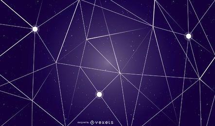 Projeto do fundo abstrato céu geométrico