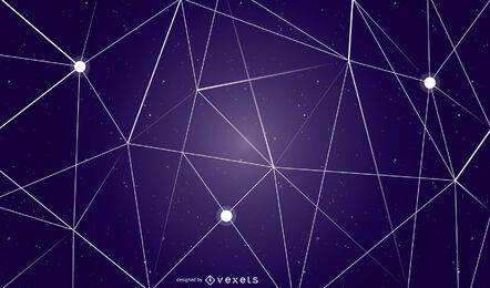 Desenho geométrico abstrato do fundo do céu