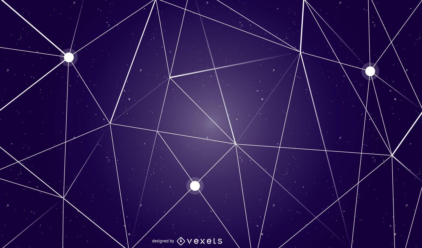 Abstraktes geometrisches Himmelshintergrunddesign