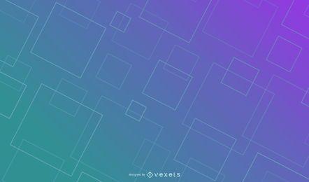 Diseño de fondo degradado de cuadrados de línea
