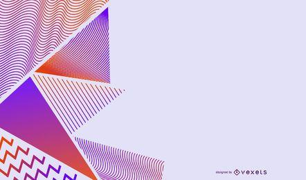 Fondo de triángulos degradados a rayas