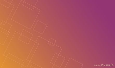 Design de fundo gradiente de quadrados finos