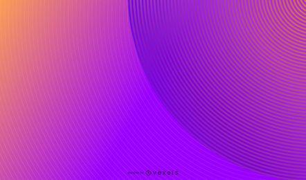 Design de fundo abstrato de círculos paralelos