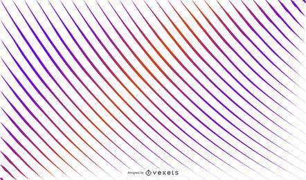Fundo gradiente de linhas curvas