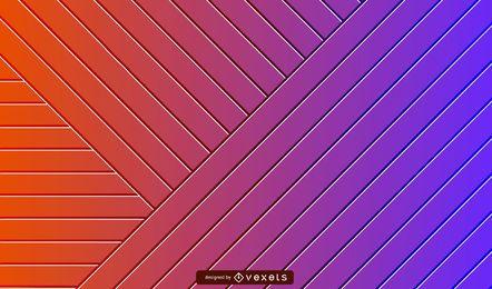 Fundo gradiente listrado 3D