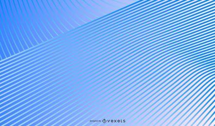 Design de fundo de linhas gradiente azul