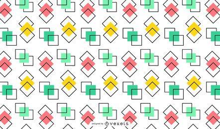 Überlappendes buntes Quadrathintergrunddesign