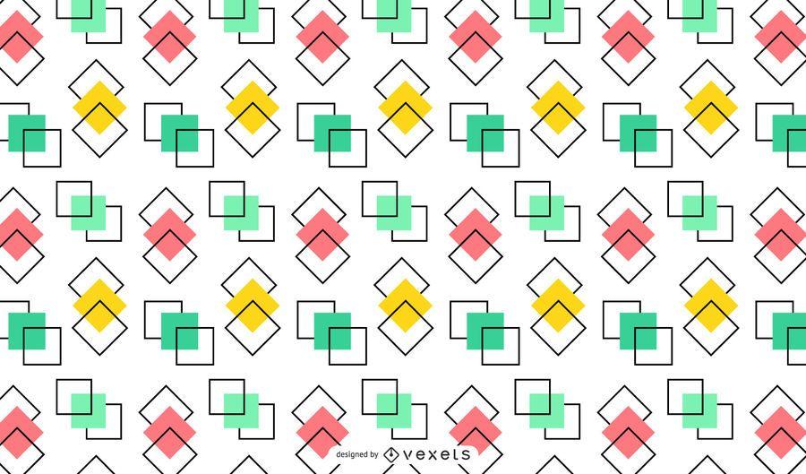 Design de fundo colorido quadrados sobrepostos