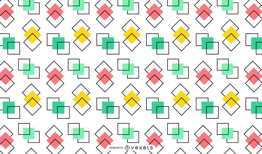 Overlapped colorful squares background design