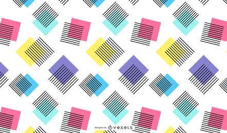 Diseño de fondo abstracto de cuadrados coloridos