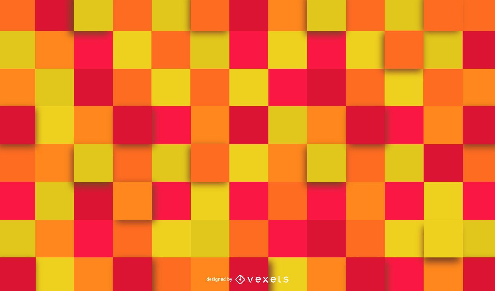Fondo geométrico colorido cuadrados