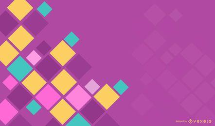 Cuadrados de fondo abstracto púrpura