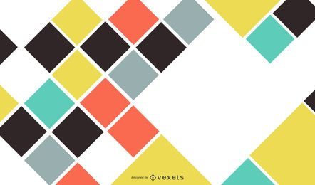 Quadrados de cor abstraem design de fundo