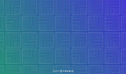 Fondo de gradiente geométrico de cuadrados de línea